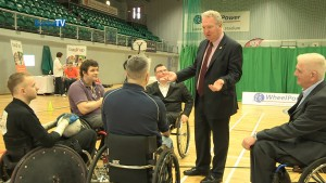 Ministers Visit to Inter Spinal Unit Games